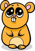 foto of kawaii  - Cartoon Illustration of Kawaii Style Cute Shy Hamster - JPG
