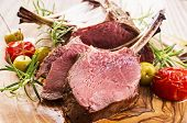 picture of deer meat  - venison carree - JPG