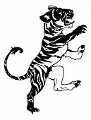 Постер, плакат: Стилизованные Тигр Иллюстрация
