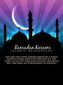 stock photo of namaz  - vector ramadan kareem background with space for your text - JPG