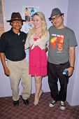 Clinton H. Wallace, Andromeda Ambard and Ramzi Abed at the dual screenings of