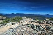 pic of haystacks  - Little Haystack Mt along the Franconia Ridge in the White Mountains in New Hampshire - JPG