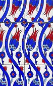 picture of rumi  - Traditional turkish tulip tile design in istanbul - JPG