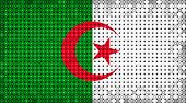 pic of algeria  - Flag of Algeria lighting on LED display - JPG