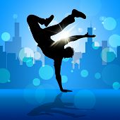 picture of break-dance  - Break Dancing Representing Street Dance And Break - JPG