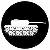 picture of panzer  - Panzer icon on white background - JPG