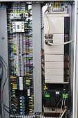 stock photo of fuse-box  - Electronics control systems in box in industry - JPG