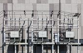 stock photo of substation  - Electricity unit high voltage substation building facility - JPG