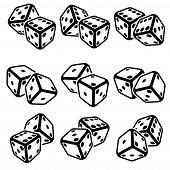 stock photo of crap  - Vector illustration of dice on the white background - JPG