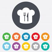 picture of chef cap  - Chef hat sign icon - JPG