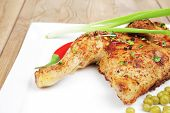 pic of sweet pea  - grilled meat  - JPG