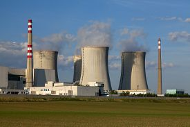 image of reactor  - Nuclear power plant Dukovany reactor in Czech Republic Europe - JPG