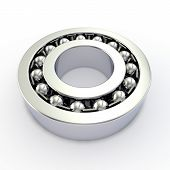 foto of ball bearing  - Double row ball bearing on a white background - JPG