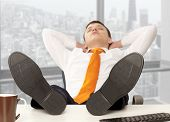 foto of recliner  - Businessman sleeping - JPG