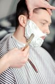 image of barber razor  - Skillful barber - JPG
