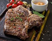picture of t-bone steak  - Beef t - JPG