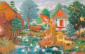 image of mural  - buddha - JPG