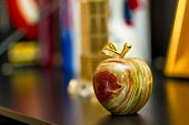pic of figurines  - beautiful figurine in the form of an apple made of onyx - JPG