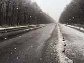 picture of icy road  - Snow - JPG