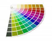 stock photo of gamma  - Pantone color palette guide - JPG