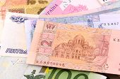 picture of american money  - european money and american money - JPG