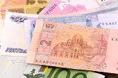 stock photo of american money  - european money and american money - JPG