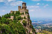 image of apennines  - Rocca della Guaita the most ancient fortress of San Marino Italy - JPG