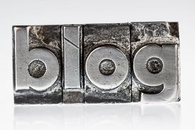 pic of blog icon  - the word blog written with lead letters - JPG