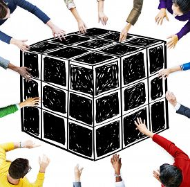 picture of twisty  - Cube Dice Dimension Logic Mind Thinking Concept - JPG