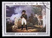 Постер, плакат: Куба марка с Наполеон