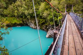 pic of incredible  - The incredibly blue hokitika gorge in southern new zealand - JPG