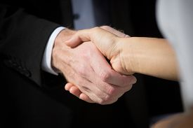 image of promises  - Business handshake and business people - JPG