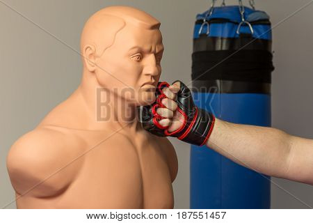 Caucasian Mma Fighter Wearing Red