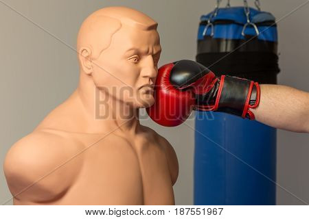 Caucasian Boxer Wearing Red Boxing