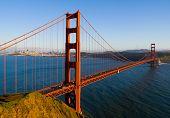 Постер, плакат: Мост Золотые ворота в Сан Франциско