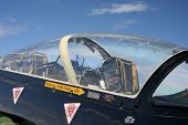 pic of afterburner  - Cockpit of a Hawk jet plane - JPG