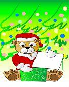stock photo of teddy-bear  - illustration of a cute christmas bear - JPG