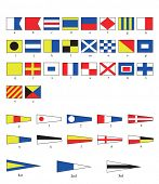 A complete set of Nautical flags for letters and numbers, including ordinal numbers. EPS10 vector fo