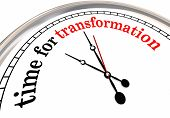 Time for Transformation Evolution Change Clock 3d Illustration poster