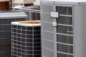 image of air conditioning  - Commercial air conditioner units on a rooftop - JPG