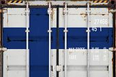 Close-up Of The Container With The National Flag Of Finland. The Concept Of Finland  Export-import A poster