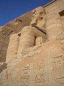 pic of aswan dam  - Statues of Ramses at Abu Simbel temple in Egypt - JPG