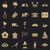 Countries In Asia Icons Set. Simple Set Of 25 Countries In Asia Vector Icons For Web For Any Design poster