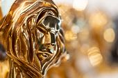 Closed Up Of Gold Cannes Lion Award, Trophy For Winner Of Advertising Agency In Yearly Festival In C poster