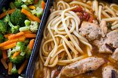 image of frozen tv dinner  - An image of unappealing TV dinner of chicken - JPG