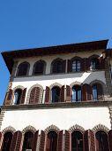 Florence - beautiful historic tenements at Piazza San Lorenzo poster