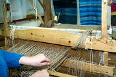 Traditional Rustic Loom. Ancient Craft. Provincial Crafts poster