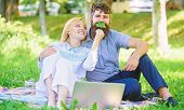 Modern Online Business. How To Balance Freelance And Family Life. Family Spend Leisure Outdoors Work poster