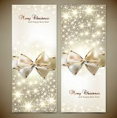 picture of sparkles  - Greeting cards with white bows and copy space - JPG