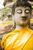 Monuments Of Buddah Wat Yai Thailand poster